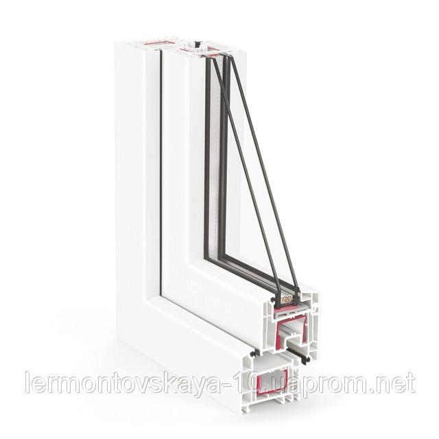 Металлопластиковое окно REHAUEURO-DESIGN 70