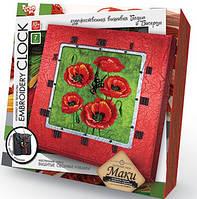 Вышивка гладью Часы Embroidery Clock: Маки EC-01-05 Danko-Toys Украина