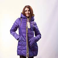 Куртка женская холлофайбер синяя Fengdupianpian