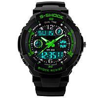 Спортивные часы Casio S-Shock black-green