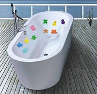 Антискользящий мини коврик для ванной. Бегемотик