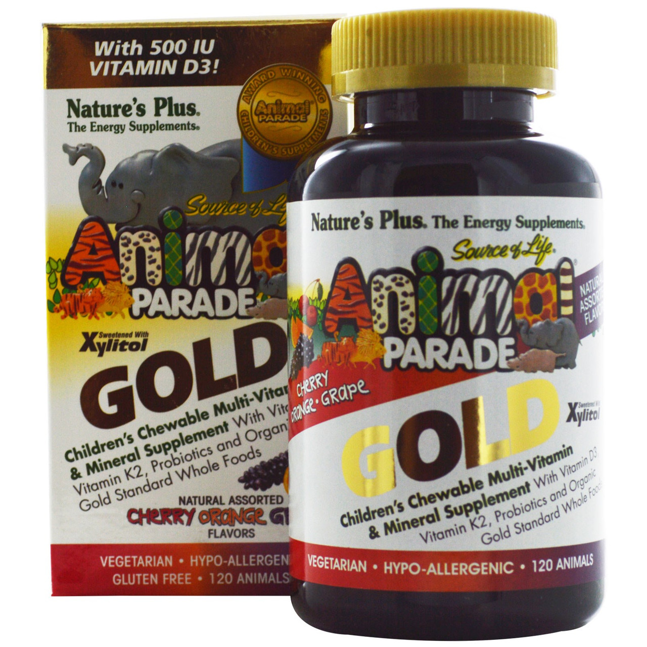 Детские жевательные мультивитамины Source of Life Animal Parade Gold, 120 штук. Сделано в США.
