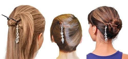 Набор заколок для волос с украшением Twist N Clip, фото 2