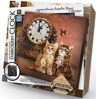 Вышивка гладью Часы Embroidery Clock: Котята EC-01-03 Danko-Toys Украина