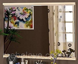 Зеркало Кантри  820х1106х40мм Дуб молочный   Мебель-Сервис, фото 2