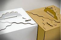 Коробка самосборная для торта с бабочкой 30*30*25 (код 04797)