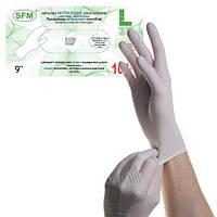 Перчатки нитриловые неопудренные ( S, M, L), 100 шт/уп.