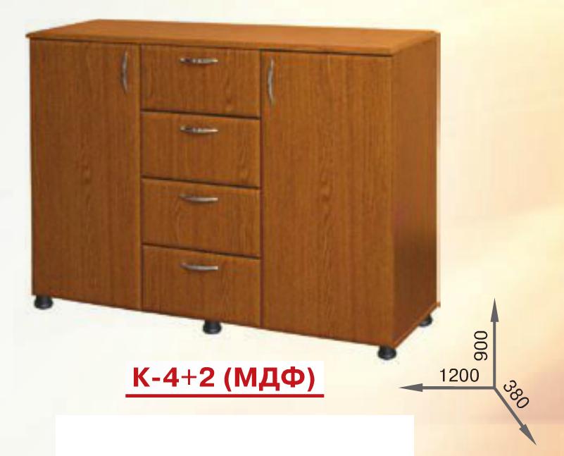 Комод К-4+2 МДФ  Пехотин