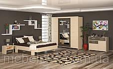 Кровать Кантри 160 923х2117х1716мм Дуб молочный   Мебель-Сервис, фото 3