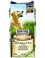 HAPPY DOG Naturcroq Ягненок и Рис 15 kg