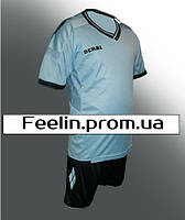 Футбольная форма Derbi детская\подростковая (Дерби голубая)