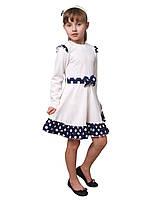 """Платье  детское с длинным рукавом   М -826  рост 110 116 122 128 134 тм """"Попелюшка"""", фото 1"""