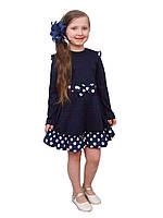 Платье  детское с длинным рукавом   М -826  рост 110 116 122 128 134