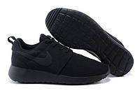 Кроссовки Nike Roshe Run Black Mono, фото 1