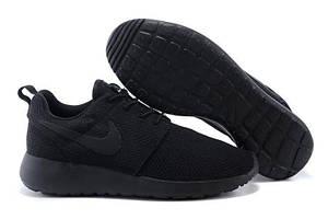 Кроссовки Nike Roshe Run Black Mono