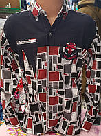 Рубашка для мальчика 6-14 лет (стрейч абстракция) (пр. Турция), фото 1
