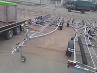 Прицеп для катера 7.5м, 2 тонны. Без тормозной системы.