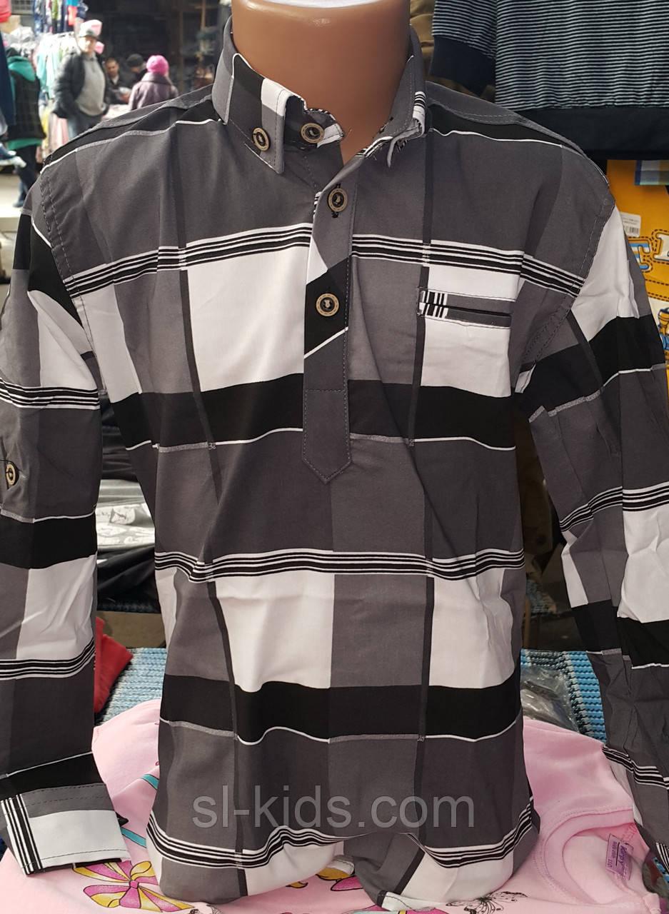 Сорочка для хлопчика віком 6-14 років (стрейч клітина) (пр. Туреччина)