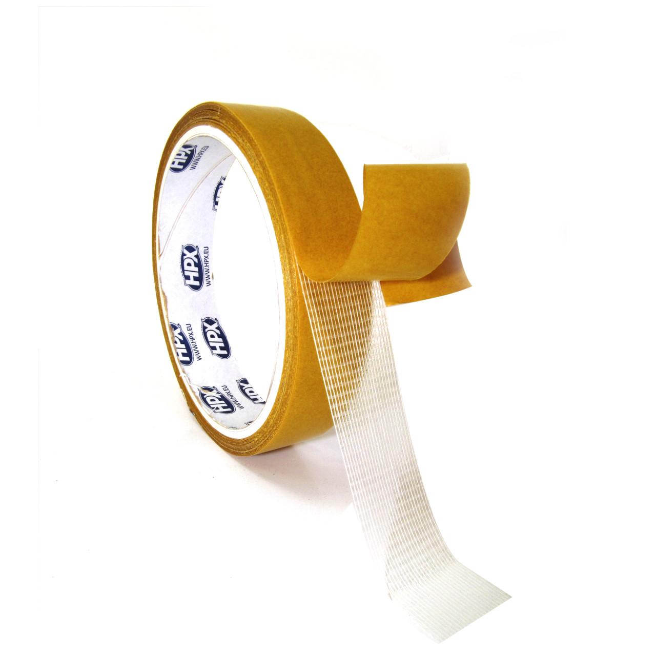 HPX 18220 - тканевая двухсторонняя клеящая лента (скотч) для тяжелых нагрузок