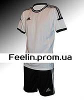 Футбольная форма Adidas (Адидаc белая\черная)