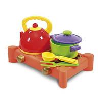 Игрушечная кухонная плита з посудой (5 предметов)