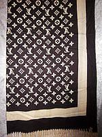 Шарф кашемировый с логотипом, фото 1