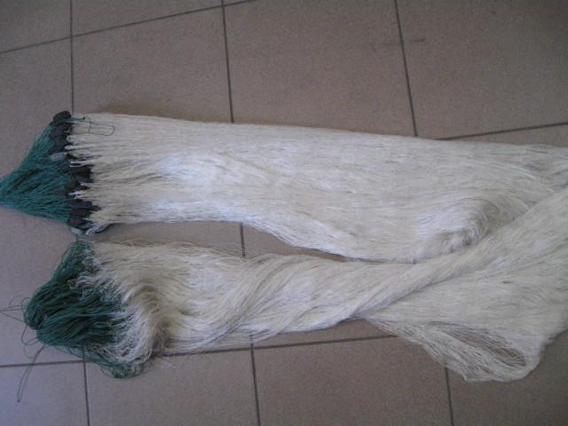 Сети из нитки для промышленного лова,капроновые,одностенки,высота 3м,длина 100м,цвет-белый.