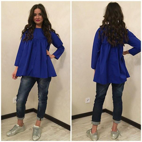 Блуза-трапеция