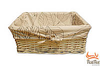 Плетенная корзина для белья ручной работы