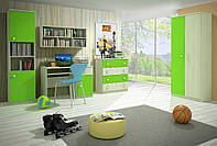 Детская комната D-1 с салатовыми фасадами