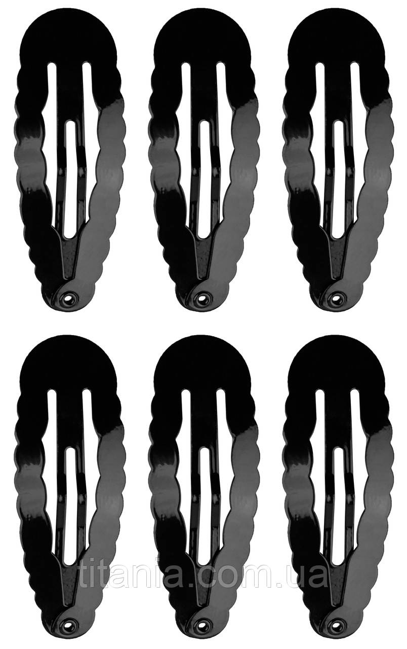 Набор зажимов для волос клик клак TITANIA 7886