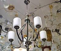 Люстра, под ковку, большая, на цепи, подвес,  5 ламп