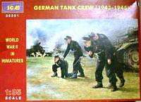 Германский танковый экипаж 1943-1945гг.   1\35    ICM  35251