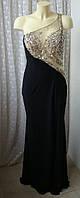 Платье в пол вечернее черное Mascara р.48 7065