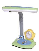 Настольная детская лампа (с часами)