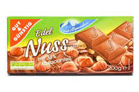 Молочный шоколад Gut&gunstig edel nuss 0.200 гр.