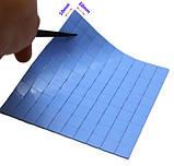 Термопрокладка СР 2,0 мм 10х10мм высечка синяя высечка термоинтерфейс для ноутбука, фото 4