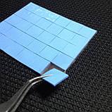 Термопрокладка СР 1,5 мм 20х20 синя форматна термо прокладка термоінтерфейс для ноутбука термопаста, фото 8
