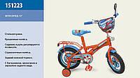 Детский велосипед 12 дюймов 151223, со звонком,зеркалом
