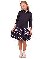 Платье  детское с длинным рукавом   М -975 рост 134-170 трикотажное разных расцветок, фото 1