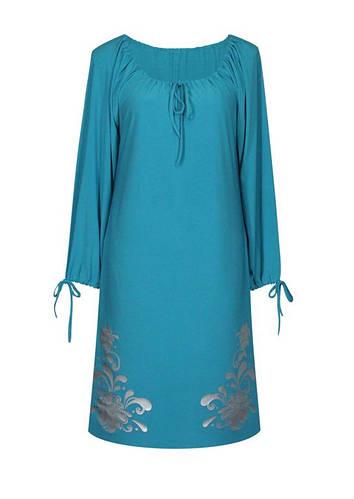 Прямое присборенное платье Барвинок