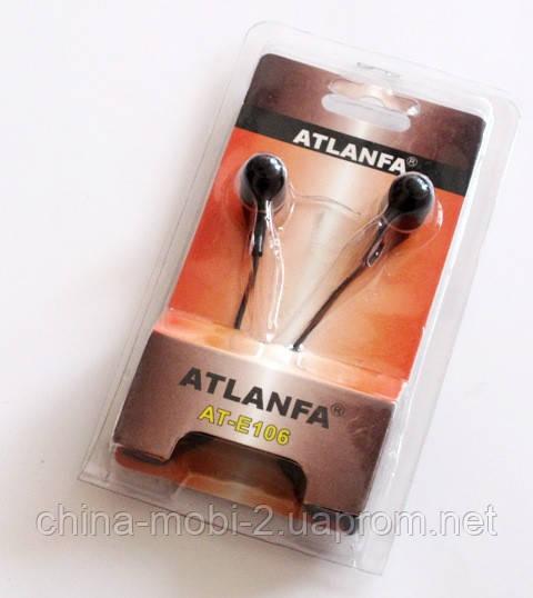 Наушники вакуумные Atlanfa AT-E106 черные
