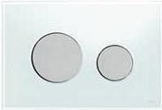 Панель смыва ТЕСЕloop из белого стекла, клавиши матовые
