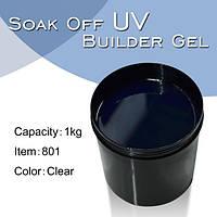 Led гель для наращивания ногтей 1 кг Silcare Led Blue