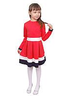 Платье  детское с длинным рукавом   М -982  рост 98-134 разных цветов
