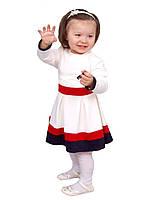 Платье  детское с длинным рукавом   М -982  рост 98-134 , фото 1