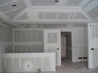 Отделка стены гипсокартоном, брусовый дом