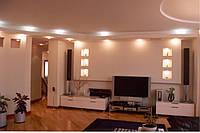 Красивые стены из гипсокартона в зале