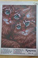 """Схема для вышивки бисером """"котятки"""""""