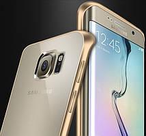 Металлический бампер для Samsung S6 Edge Plus G928 с задней панелью